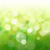 Green bokeh abstract light background — Stock Photo