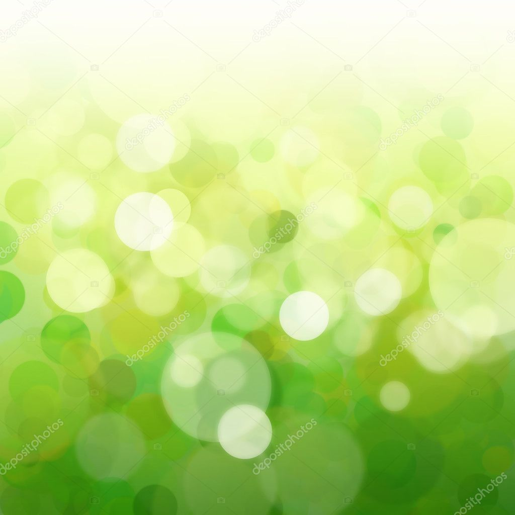 Green background with an abstract bokeh  Stock Photo #5843601
