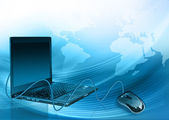 Melhor conceito de internet do negócio global de uma série de conceitos — Fotografia Stock