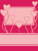 Greeting card with hearts — Stock Vector