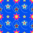 Colorful stars seamless pattern — Stock Vector #5517113