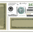 Photo dollar bill elements isolated on white background (Set) — Stock Photo #5405409