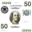 Set of original detail dollars isolated on white background — Stock Photo #5405419