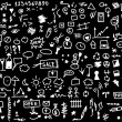 220 hand draw web icon isolated on black background — Stock Photo #5406444