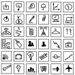 Stok fotoğraf: Simple hand draw web business icons isolated on white background