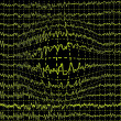 Concept of earthquake, graph wave in form of Earth isolated — Stock Photo