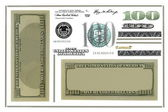 Photo dollar bill elements isolated on white background (Set) — Stock Photo