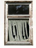 Grunge old window isolated on white background — Stock Photo