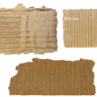 Set Cardboard Scraps isolated on white background — Stock Photo