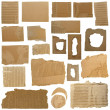 Royalty-Free Stock Photo: Set Cardboard Scraps and Hole ripped cardboard isolated on white background