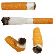 Set Cigarette butts isolated on white background, texture — Stock Photo #5794886
