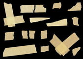 Masking tape isolated on black background (high definition) — Stock Photo