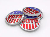 Voting Coins — Stock Photo