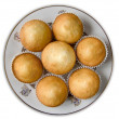Muffins on a plate — Stock Photo