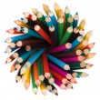 Pencils top view — Stock Photo #6317780