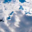 Plane in the sky — Stock Photo