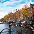 Bicycle in amsterdam — Stock Photo #6319067