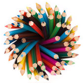 Pencils top view — Stock Photo