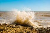 Wave with spray — Stock Photo