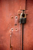 Old rusted lock — Stock Photo