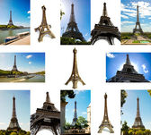 Set of Eiffel Tower — Stock Photo