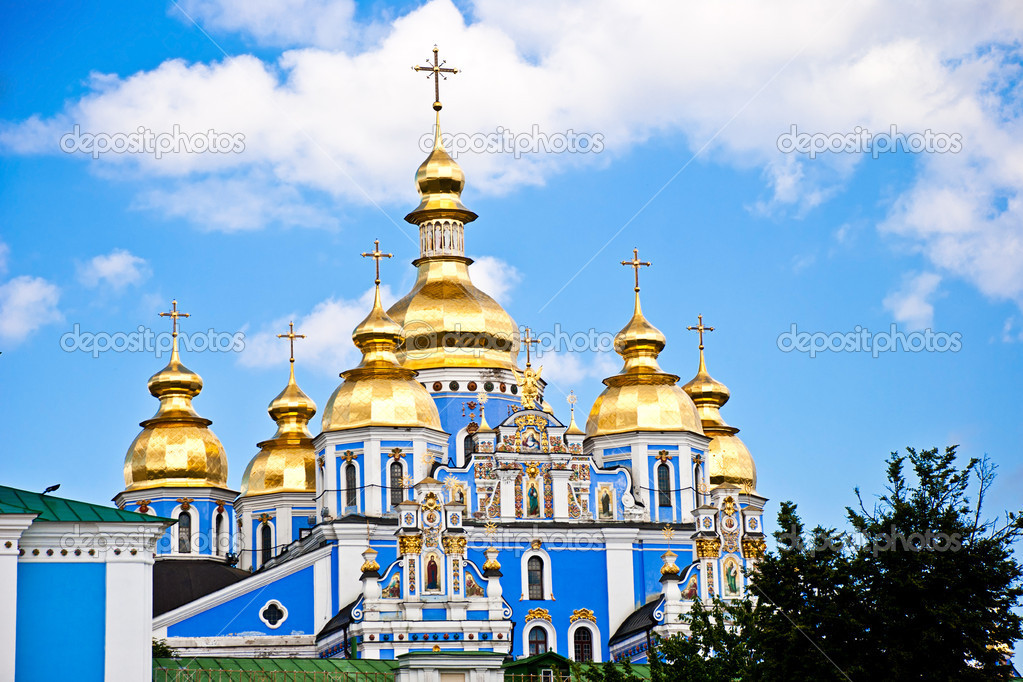 Beautiful church in ukraine on a sunny day  Stock Photo #6440290