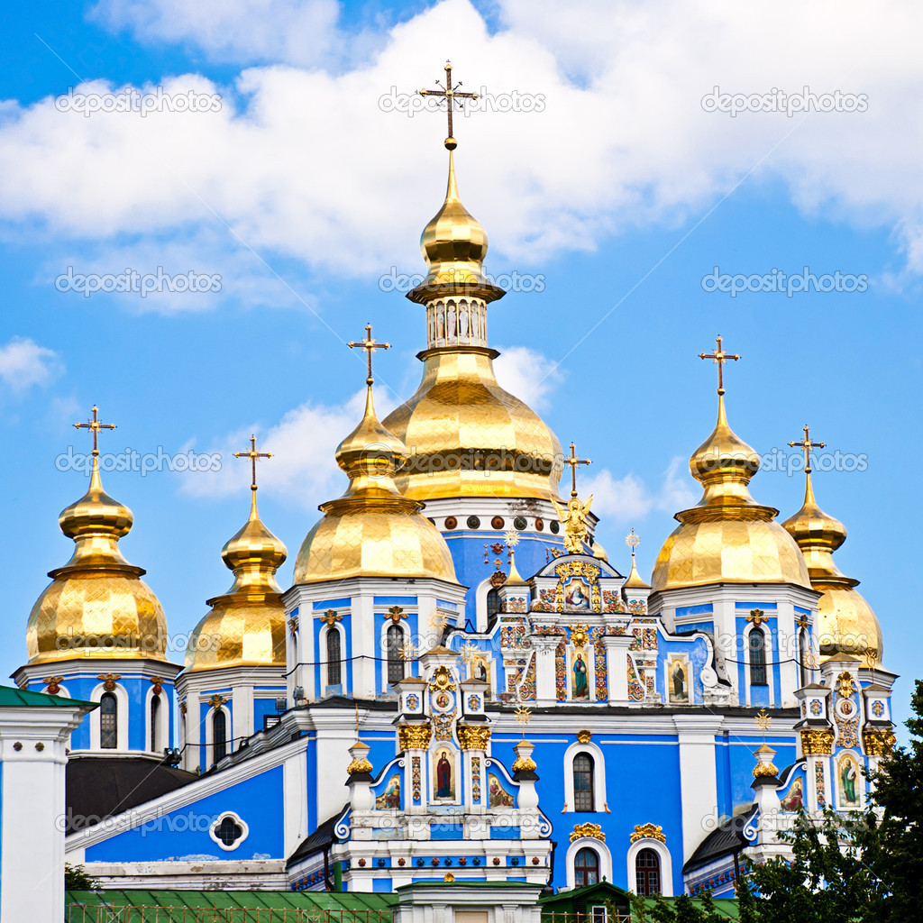 Beautiful church in ukraine on a sunny day — Stock Photo #6440295
