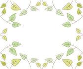 Framework from green leaves — Stock Photo