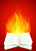 Fire book — Stock Photo