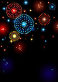 Holiday fireworks — Stock Photo
