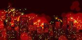 Holiday's city. — Stock Photo