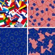 Flags of European Union members  and USA - Stock Photo