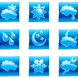 Set weather icons - Stock Vector