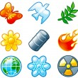 Vector set of computer shine icons for environment. Part 3 — Stock Vector #6059020