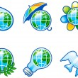 Stock Vector: Set of icons for environment.
