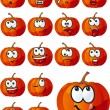 Vector set of halloween pumpkins — Stock Vector #6538666