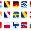 Stock Vector: Flags of european countries (1)