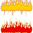 Red and yelliw flame — Stock Vector