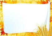 Horizontal vector card for thanksgiving — Stock Vector