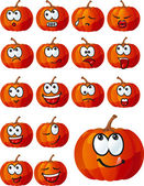Vector set of halloween pumpkins — Stock Vector