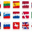 Flags of european nations (2) — Stock vektor