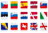 Flags of european nations (2) — Vector de stock