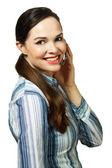 Portret kobiety piękne klienta usługi — Zdjęcie stockowe
