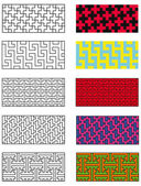Collection models of the japanese pattern — Stock Vector