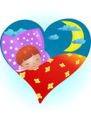 Sleeping child — Stock Vector