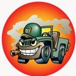 Military car — Stock Vector