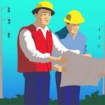 Men are electricians — Stock Vector #6066846