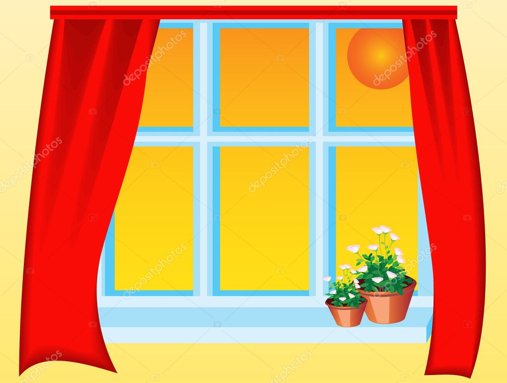 This is view from window on day sky — Stock Vector #6066850