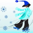 Person in winter — Imagen vectorial