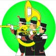 Stock Vector: Marching band